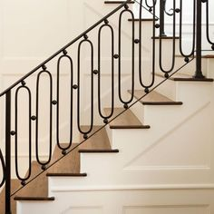 16 Unique Modern Staircase Design Ideas For Your Dream House Stair Railing Design, Stair Handrail, Staircase Railings, Stairways, Banisters, Iron Railings, Stair Case Railing Ideas, Staircase Diy, Balustrade Design