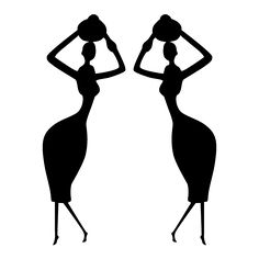 Vinilo Decorativo Mujer Africana Afro, New Times, Colouring Pages, Old And New, Clock, Drawings, Lingerie, Paintings, Silhouettes