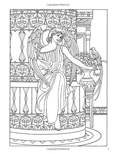 Angel Coloring Pages for Adults | ... Best coloring books ...