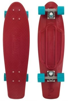 Penny Skateboard Organic Nickel SKATEBOARD COMPLETE Maroon | Boardparadise.com