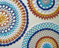 colorful crochet doilies #qscrochet