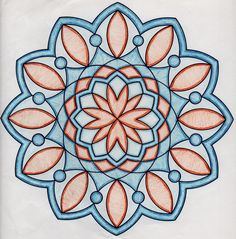 Coloring mandalas as meditation