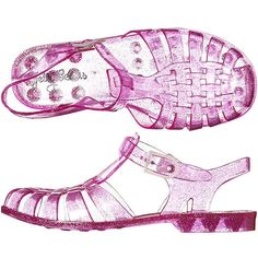 Jelly Beans Women's Sandal Pu Women's Shoes Pink ($7.72) ❤ liked on Polyvore