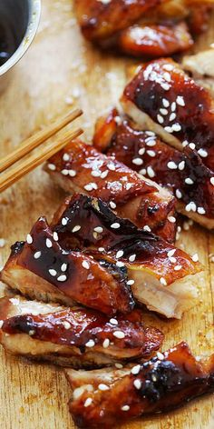 The best oven-roasted chicken with sticky, sweet and savory Char Siu marinade. Better than Chinatown | rasamalaysia.com