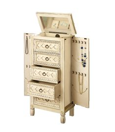 Doodle Craft Vintage Jewelry Armoire RedoDIY this would work