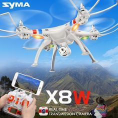 7.4V 2000mAh RC Quadcopter SYMA X8W RC Drone with 2MP HD Camera Wi-fi FPV Real Time 2.4G 4CH Remote Control Helicopter  #Affiliate
