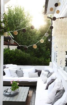 comfy outdoor patio area