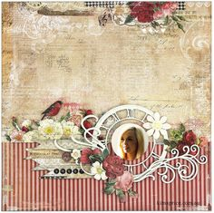 Blue Fern Studios Sketch Challenge - March by Kim Price featuring papers from Love Story collection