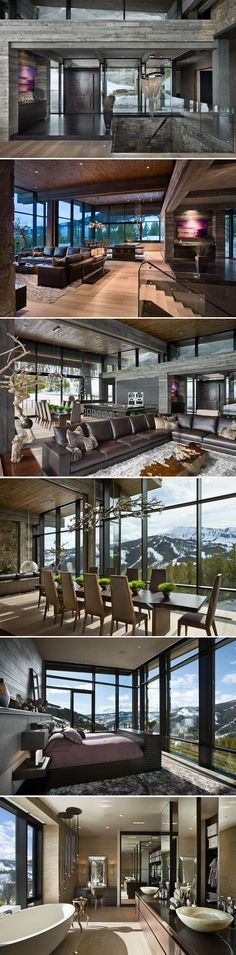 Lower Foxtail Residence within the Yellowstone Club in Montana by Reid Smith Achitects Teton Heritage Builders