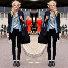 #stealthelook #look #looks #streetstyle #streetchic #moda #fashion #style #estilo #inspiration #inspired #jeans #oxford #preto #sobreposicao #tomboy #jeans