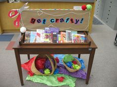 """""""Get Crafty"""" library book display"""