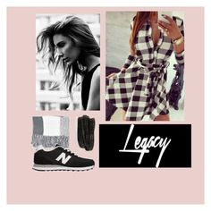 """""""Legacy by Vica"""" by evabaranyai on Polyvore featuring Topshop, New Balance and Pieces"""