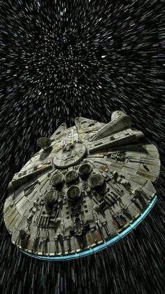 The fastest hunk of junk in the galaxy, the famed Millennium Falcon.