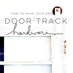 There are basically two types of barn door hardware. The first is a rustic, flat track sliding door system The second is a more modern roller and track style Barn Door In House, Diy Barn Door, Diy Door, House Doors, Interior Barn Door Hardware, Sliding Barn Door Hardware, Interior Doors, Door Latches, Interior Paint