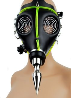 Cyber Punk Spike UV Tubing Gas Mask