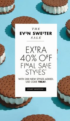 Take an extra 40% off final sale styles at J.Crew with code: TREAT