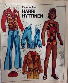 Finnish paper doll Harri Hyttinen 1972