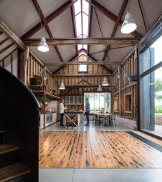 "Eco-Conscious Converted Barn-- ""It's a Smart Barn with green systems..."""