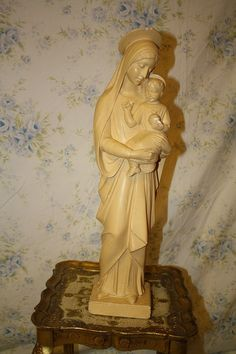 vintage Virgin Mary statue