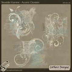 Seaside Harvest - Accent Clusters :: Empherals & Clusters :: Embellishments :: SCRAPBOOK-BYTES