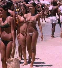 Rio de Janeiro in the 70's beach swimwear.