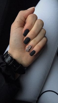 Black Acrylic Nails, Simple Acrylic Nails, Best Acrylic Nails, Acrylic Nail Designs, Western Nails, Acylic Nails, Leopard Print Nails, Fire Nails, Dipped Nails