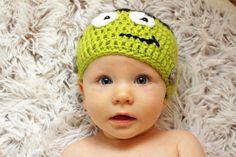 Crochet Frankenstein Hat Halloween Photo Prop Frankenstein