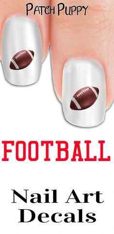 Adorable footballs to compliment all team spirit decals and wraps or wear alone!We hope you love our exclusive Patch Puppy design. Argan Oil For Hair Loss, Best Hair Loss Shampoo, Biotin For Hair Loss, Castor Oil For Hair, Biotin Hair, Hair Shampoo, Baby Hair Loss, Hair Loss Cure, Football Nail Art