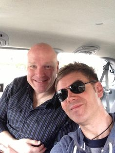 George and Neil of Celtic thunder smiling today!!
