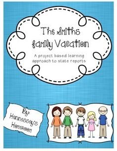 This is a great alternative project for students doing state reports.  Plan a vacation for the Smith Family! Students will have the opportunity to plan a six-day vacation for a family of 5.   Great collaborative projects, project based learning!