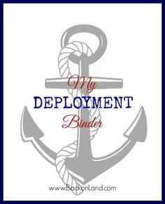 My Deployment Binder : FREE PRINTABLES to get YOU prepared ...