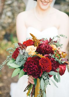 Beautiful Fall Bouquet | Cyn Kain Photography | Theknot.com