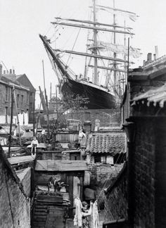 The Penang in dry dock, Millwall