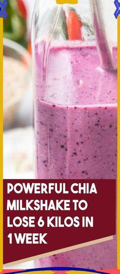 Powerful Chia Milkshake To Lose 6 Kilos In 1 Week