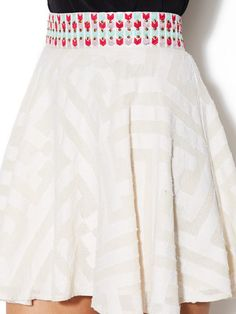 Cotton Embellished Circle Skirt by Allison Collection at Gilt