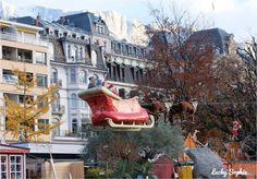 Traineau volant du Père Noël
