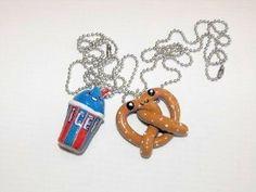 cute best friend jewelry | Pretzel and Slushie Best Friend Necklaces | Shop entertainment ...