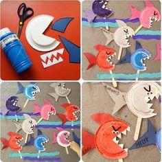 shark craft ideas | Crafts and Worksheets for Preschool,Toddler and Kindergarten