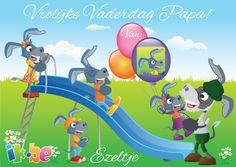 Stuur je Papa een mooi kaartje voor Vaderdag met je eigen foto en naam erop.  Hij zal het vast super vinden!  Surf naar http://spelletjes.ik.be/kaartje/vaderdag.html voor jouw Vaderdagskaartje.