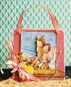 Tutorial by Michele Kovack on how to create a Vintage summer wall hanging using image from Crafty Secrets Seasonal Booklet