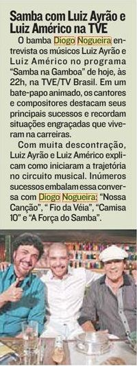 #DiogoNogueira 2015 #SambaNaGamboa #ATribuna