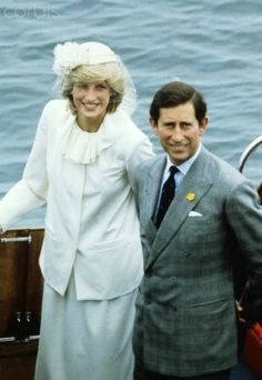 June 19, 1983 The Prince and Princess of Wales at St. Andrew by the Sea, during their 1983 visit to Canada. | Location: St. Andrew by the Sea, Canada.  Photo - Corbis