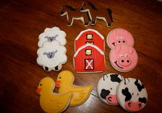 Barn Yard Farm Animals 1Dz. by thetalentedcookie on Etsy, $32.99