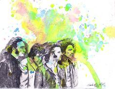 The Beatles Art Watercolor Painting  Original by idillard on Etsy, $45.00