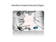 Security plugins for WordPress.