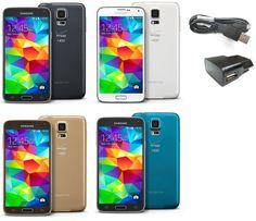 Samsung Galaxy S5 G900V 16GB Verizon + GSM (AT&T T-Mobile UNLOCKED SmartPhone SR #Cell #Phones #Accessories #Smartphones #SM-G900V