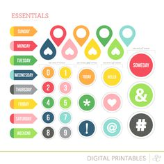 Essentials Printable Shapes at @studio_calico #freeprintable #freeprintables #projectlife