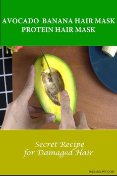 Avocado Banana Hair Mask🍌[ DIY Protein Mask For Damaged Hair]