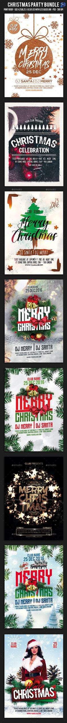 Christmas Party BundleIt¡¯s unique flyers, poster design for your business Advertisement purpose. All Elements are in individual layers and all text is editable! Easy to customize & edit ¨C All photos is a Smart Object (simply select, place & that¡¯s it!) Print d