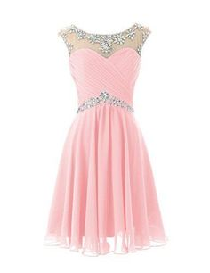 2016 Chiffon Short Homecoming Dress, Beaded Prom Dress,Sexy Mint Green And Pink Homecoming Dress ,For Junior Birthday Dress